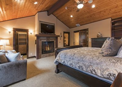 Master Suite 1: attached bath, fireplace, 60 inch HDTV, queen hid-a-bed