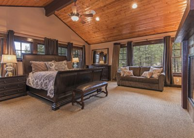 Master Suite 1: attached bath, fireplace, 60 inch HDTV, queen hide-a-bed