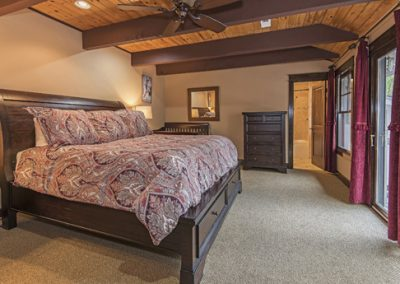 bedroom #5- King bed, walk in closet, attached bath, private deck, HDTV