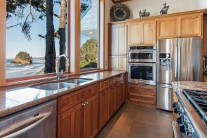 Double oven and large fridge