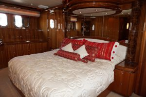 VIP Stateroom with centerline island queen berth and ensuite