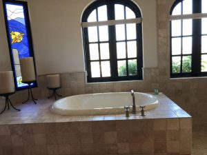 Large jetted tub in the master bath