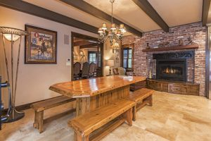 Eat in kitchen with seating for 20 in kitchen/dining. gas fireplace