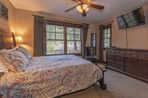 Bedroom #8- Lower level. No Stairs required! Queen bed, HDTV