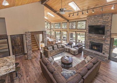 Large family room. Open concept kitchen and dining