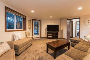 """Lower level media room-Pull out queen sleeper. new 55"""" smart HDTV"""